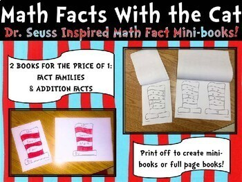 Math with the Cat Fact Families and Addition Fact Mini Books