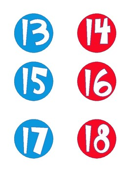 Dr. Seuss Inspired Mini Numbers