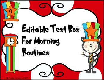 Dr. Seuss Inspired Morning Routine Anchor Charts EDITABLE