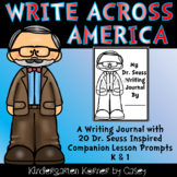 Write Across America Companion Prompts NO PREP Journal Writing Kindergarten 1