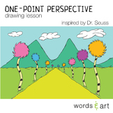 One Point Perspective Drawing Lesson Inspired by Dr. Seuss Elementary Art