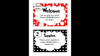 Dr. Seuss Inspired Open House Stations ONLY