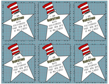 Dr. Seuss Inspired Open House Treat Tags