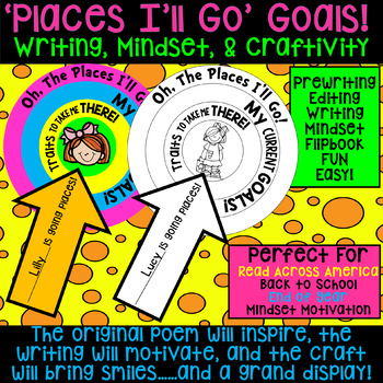 "Dr. Seuss Inspired ""Places You'll Go"" Goals Craftivity. Writing & Mindset Too!"