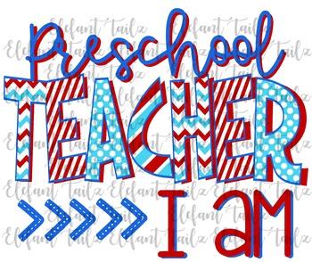 Preschool Teacher I Am T Shirt Design Clipart By Bamagirl Tpt,Modern Style Full Wall Mirror Design For Living Room