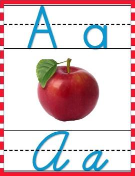 Dr. Seuss Inspired Print and Cursive Alphabet Tiles
