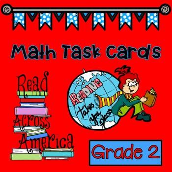 Dr. Seuss Inspired Read Across America Math Task Cards Grade 2