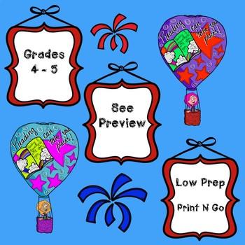 Dr. Seuss Inspired Read Across America Math Task Cards Grade 5