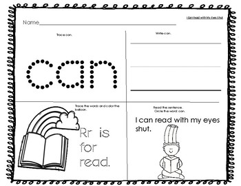 Dr. Seuss Inspired Read-Write-Color