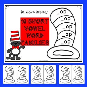 "Dr. Seuss Inspired ""Short Vowel Word Families"" Activities"