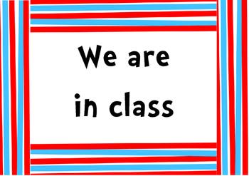 Dr Seuss Inspired Sign for Classroom Door