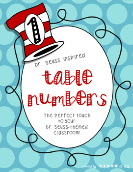 Dr. Seuss Inspired Table Numbers