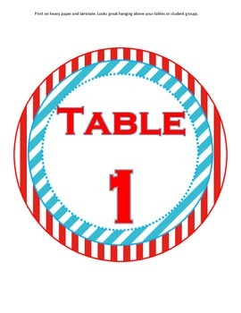 Table Signs