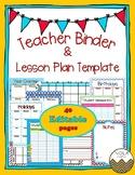 Dr. Seuss Inspired Teacher Binder/Lesson Plan Template- EDITABLE