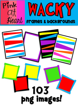 Dr. Seuss Inspired Wacky Frames and Backgrounds