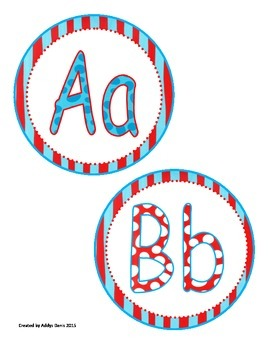 Word Wall Headers -Letters A-Z