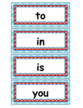 Sight Words for the Word Wall - EDITABLE