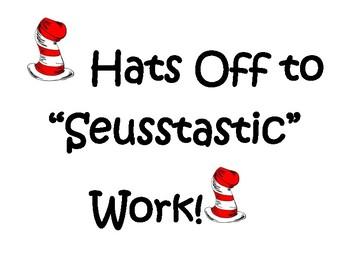 Dr. Seuss Inspired Work Sign