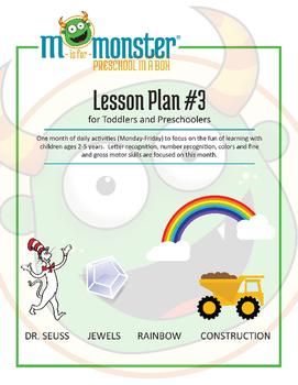 Dr. Seuss, Jewels, Rainbow & Construction Lessons