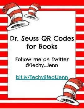 Dr. Seuss Listening Center QR Codes