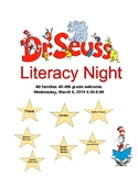 Dr. Seuss Literacy Night Flyer