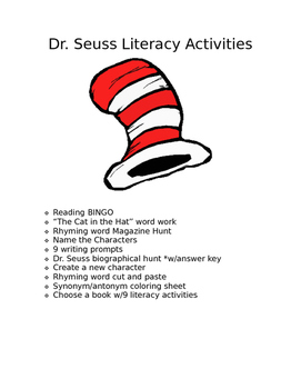 Dr. Seuss Literacy packet