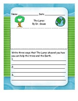 Dr. Seuss Literature Response Set