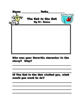 Dr. Seuss Literature Response Set