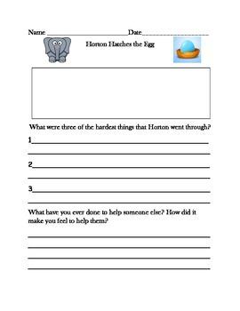 Dr. Seuss Literature Response Set #2