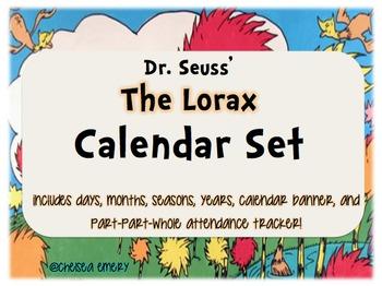 Dr. Seuss Lorax Calendar Set