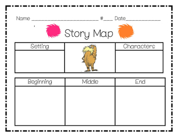 Dr. Seuss Lorax Story Map
