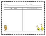 Dr. Seuss Lorax and Sneetches Graphic Organizers