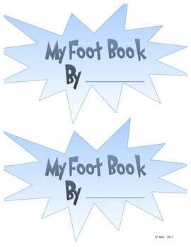 """Dr. Seuss Make Your Own """"Foot Book"""""""