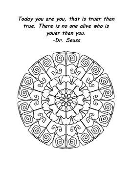 Dr Seuss Mandala Coloring Pages