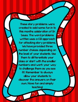 Dr Seuss Math Activities Sample