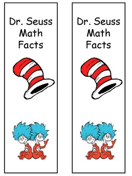 Dr. Seuss Math Cards