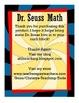Dr. Seuss Math and Door Decoration Craftivity!!