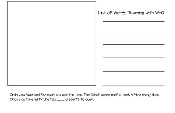 Dr. Seuss Math and Writing Journal