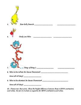 Dr. Seuss Measuring