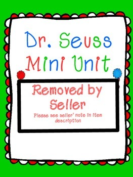 Dr. Seuss Mini Unit: Allliteration, Rhyme, & Repetition (Common Core RL 2.4)