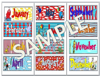 Dr. Seuss Months of the Year
