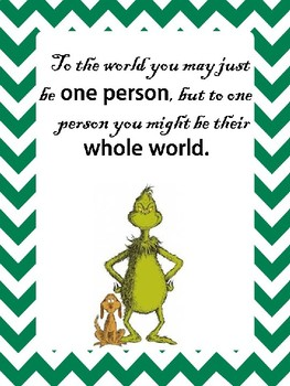 Dr Seuss Motivational Posters- set of 9