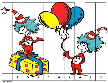 Dr. Seuss Number Puzzles