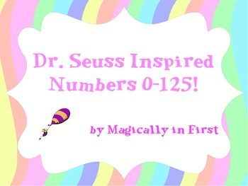 Dr. Seuss Numbers 0-125 - Oh the Places!