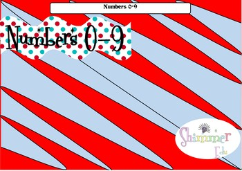 Seuss like Numbers 0-9 Back to school set up display