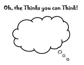 Dr. Seuss' Oh the thinks you can think Activity Page