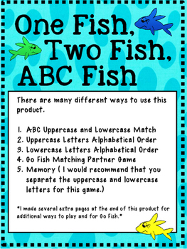 Dr. Seuss: One Fish, Two Fish, ABC Fish