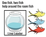 Dr.Seuss One Fish, Two Fish Job Chart