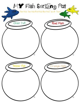 """Dr. Seuss """"One Fish Two Fish Red Fish Blue Fish"""" Math Activity Pack"""