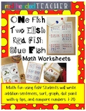 "Dr. Seuss ""One Fish Two Fish Red Fish Blue Fish"" Math Acti"